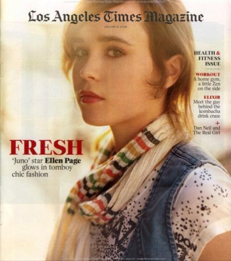 Эллен Пейдж на обложках журналов