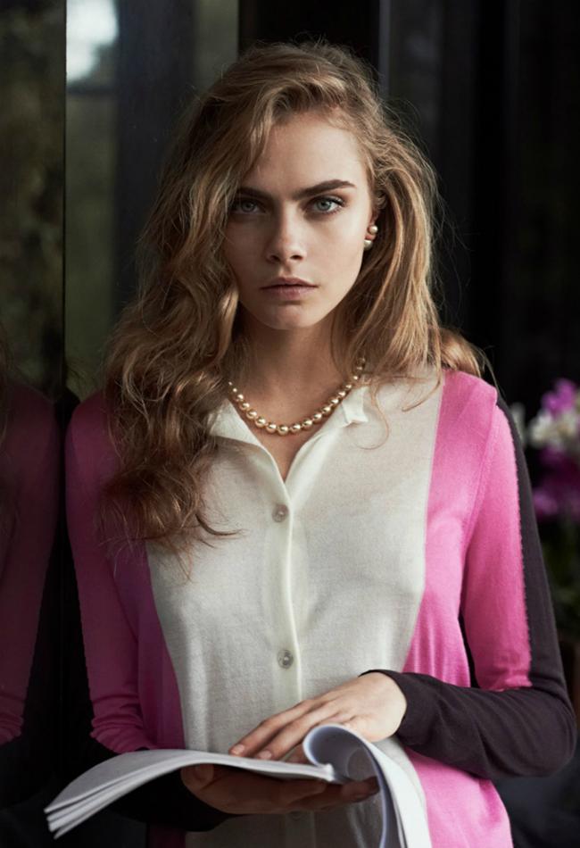 Кара Делевинь и Том Хиддлстон в Vogue US