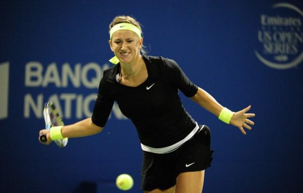 Виктория Азаренко на теннисном корте