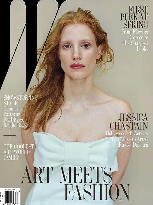 Джессика Честейн на обложках журналов