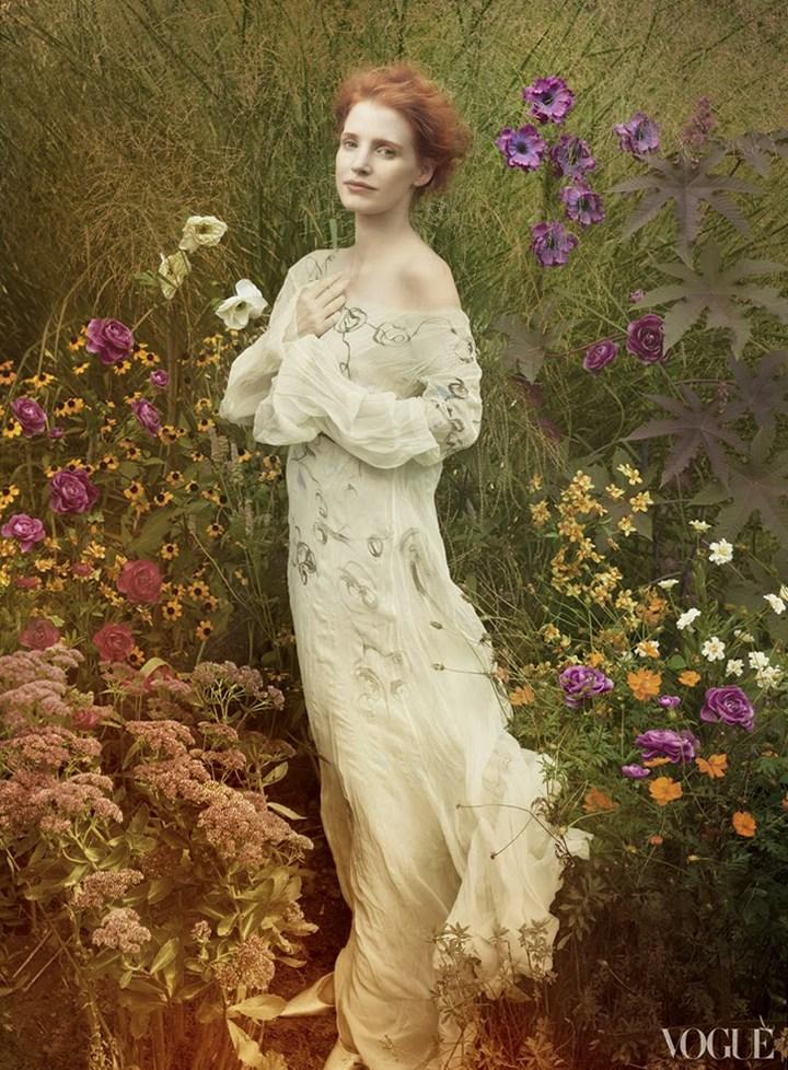 Джессика Честейн для Vogue US, декабрь 2013