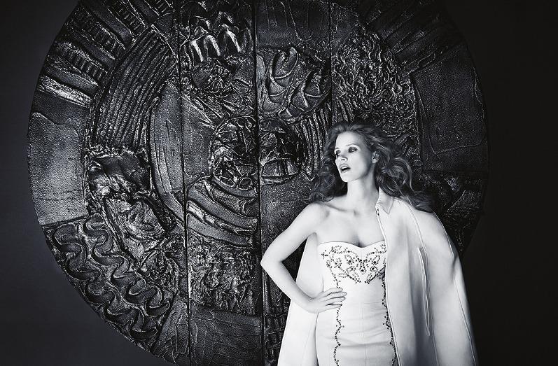 Джессика Честейн для майского MADAME FIGARO France (2013)