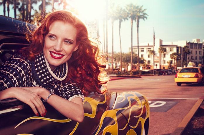 Джессика Честейн в фотосессии для весеннего выпуска Vogue Italia