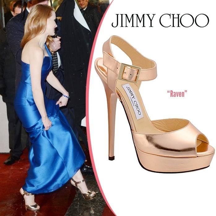 Звездная обувь Джессики Честейн