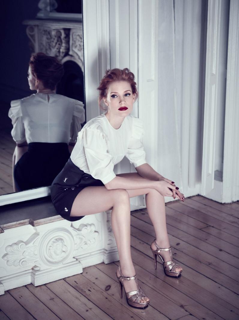 Джессика Честейн в фотосессии для Yves Saint Laurent (2013)