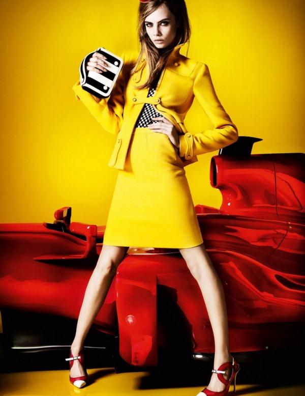 Кара Делевинь для Vogue UK