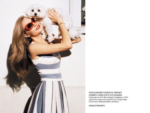 Кара Делевинь для Miss Vogue
