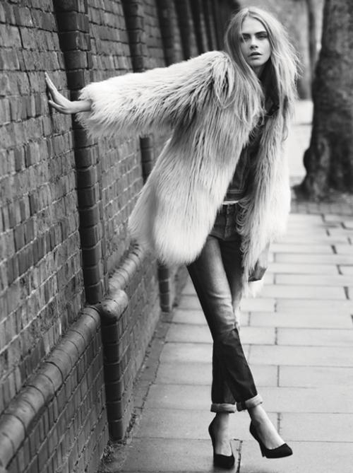 Кара Делевинь для осенне-зимней рекламной кампании Pepe Jeans, 2013 год