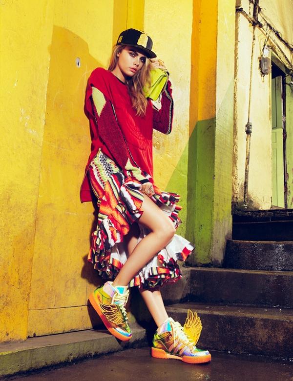 Кара Делевинь для Vogue Brasil, февраль 2014