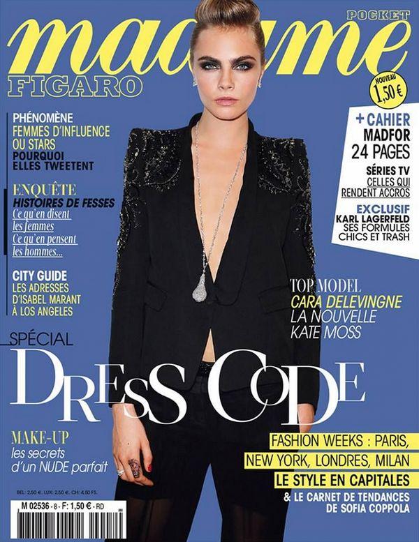 Кара Делевинь на обложках журналов