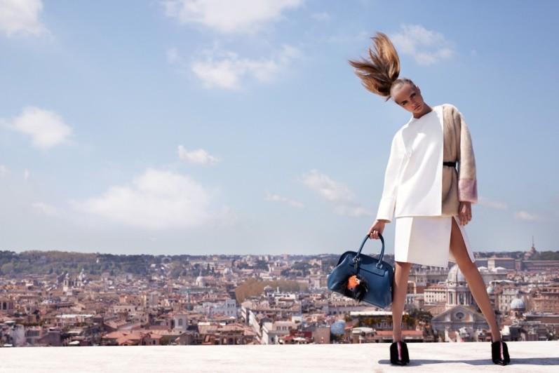 Кара Делевинь в рекламной кампании FENDI F/W 13.14