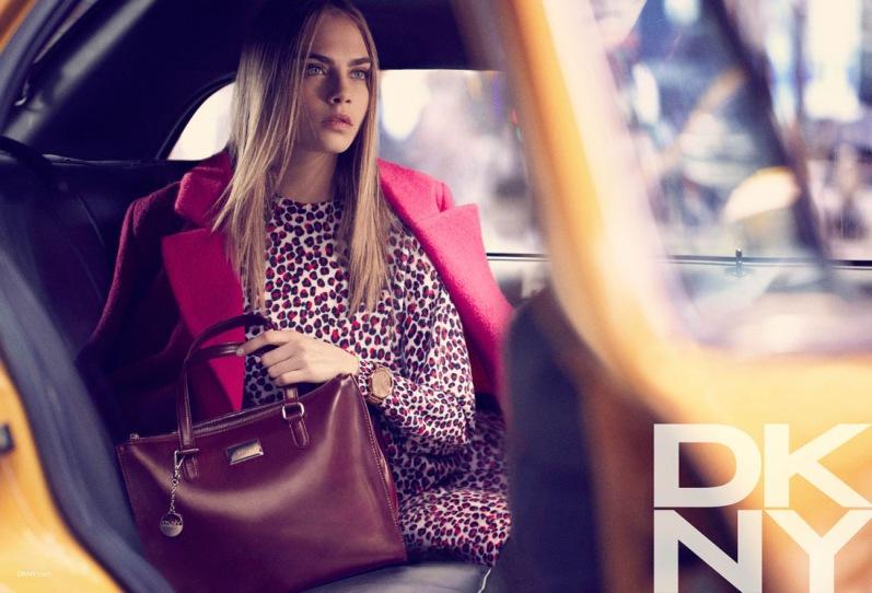Кара Делевинь в рекламной кампании DKNY F/W 13.14