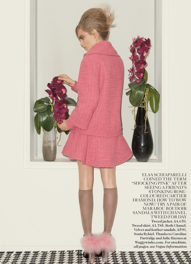 Кара Делевинь в фотосессии для журнала VOGUE UK, сентябрь 2013