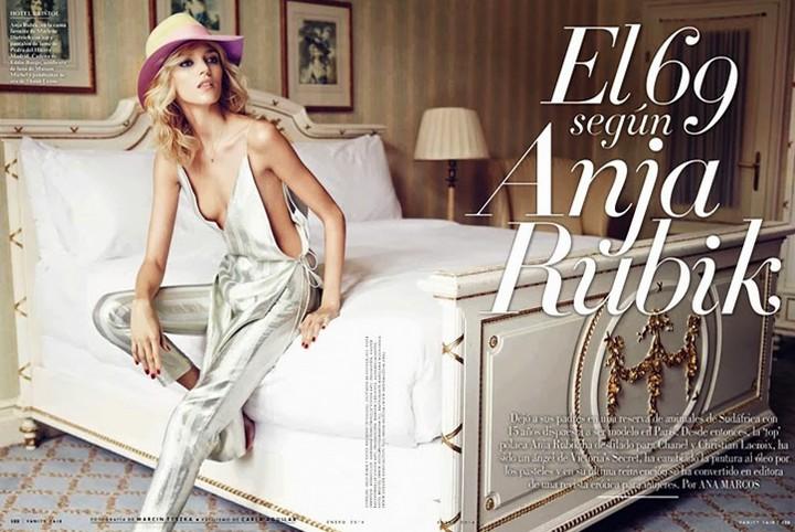 Аня Рубик для Vanity Fair Spain, декабрь 2013
