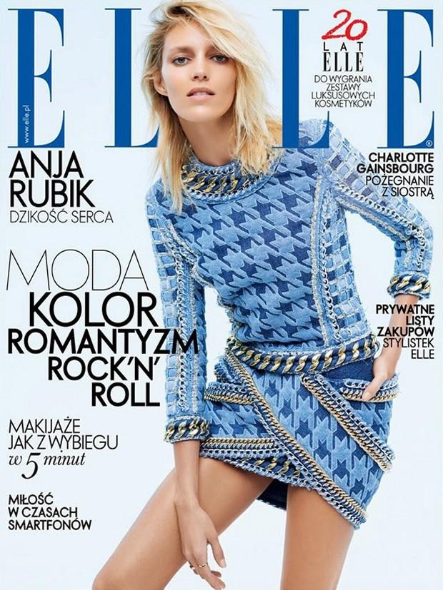 Аня Рубик для Elle Poland, апрель 2014