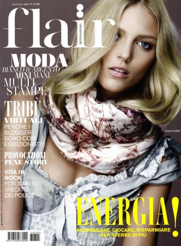 Аня Рубик на обложках журналов