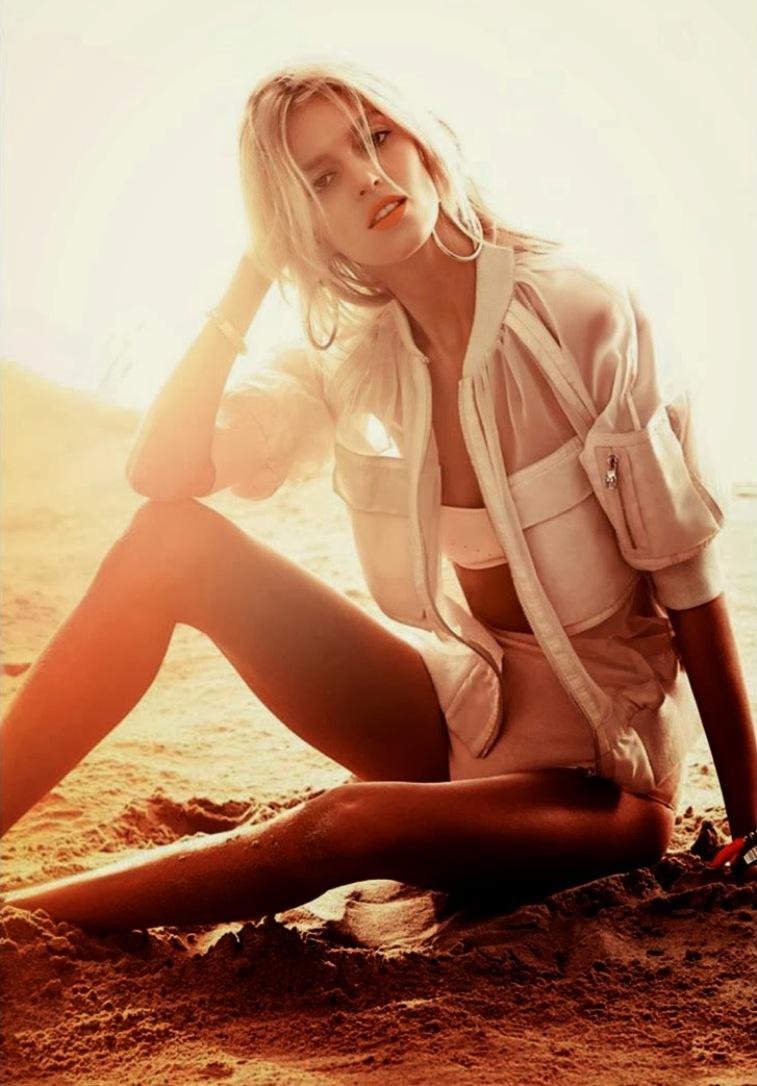 Аня Рубик для Vogue Korea, январь 2014