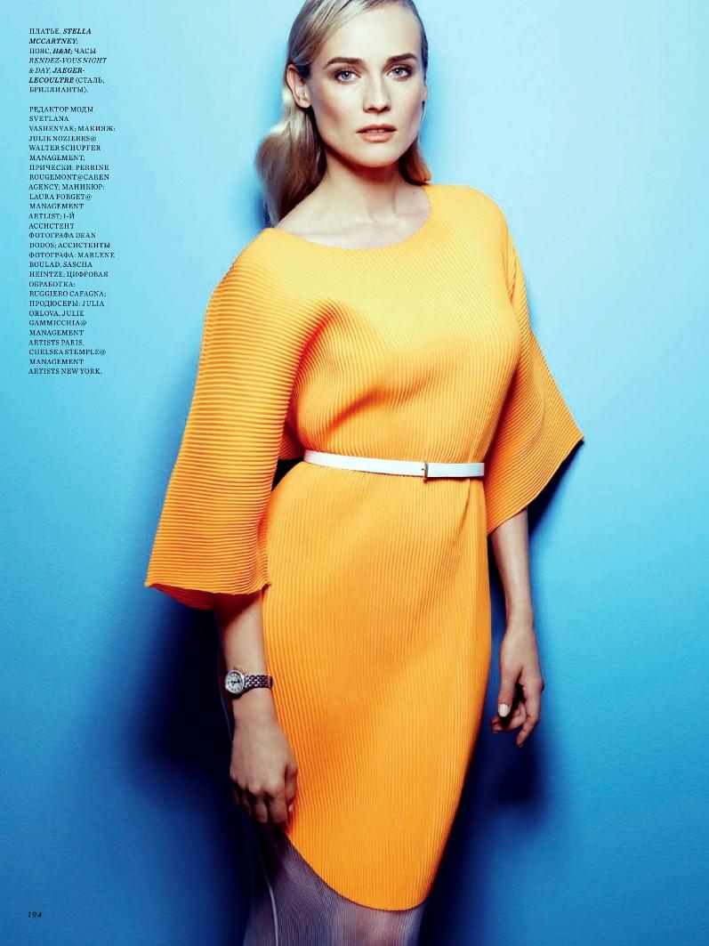 Дайан Крюгер для майского выпуска Harper's Bazaar