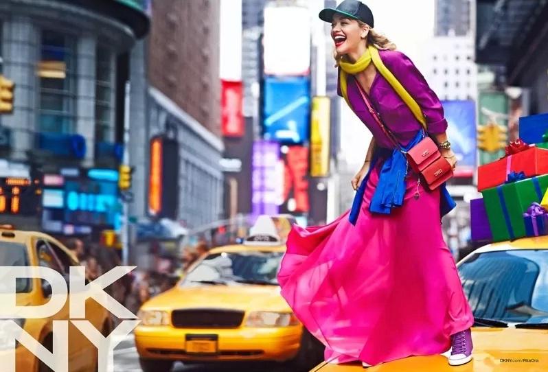 Рита Ора для рекламной кампании DKNY Resort 2014