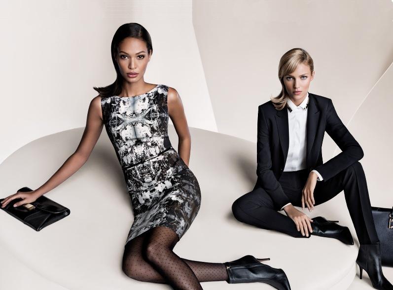 Аня Рубик и Джоан Смоллс в рекламной кампании HUGO BOSS BLACK FW 13.14 AD