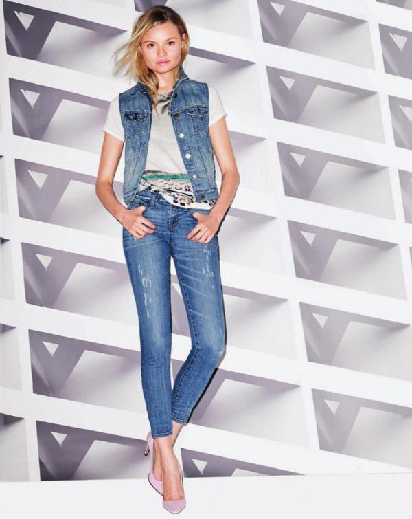 Магдалена Фраковяк в рекламной кампании J Crew