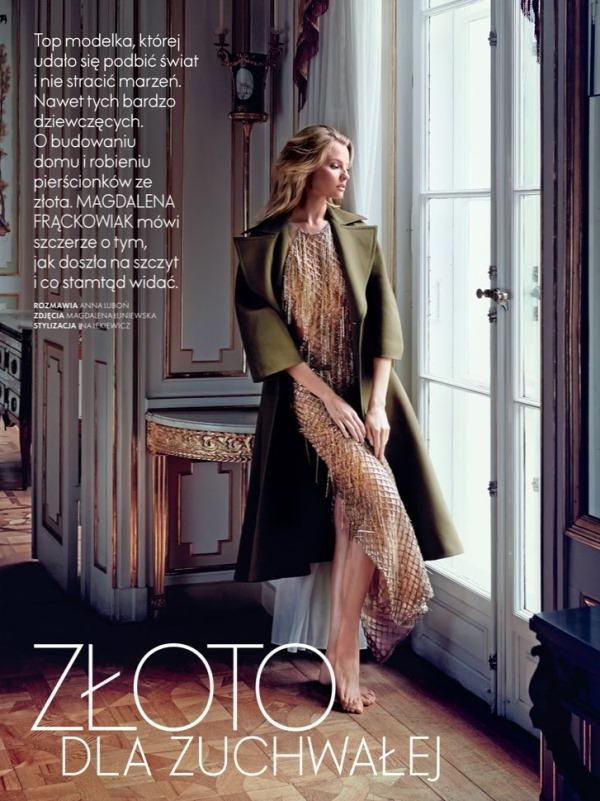 Магдалена Фраковяк для Elle Poland, сентябрь 2013
