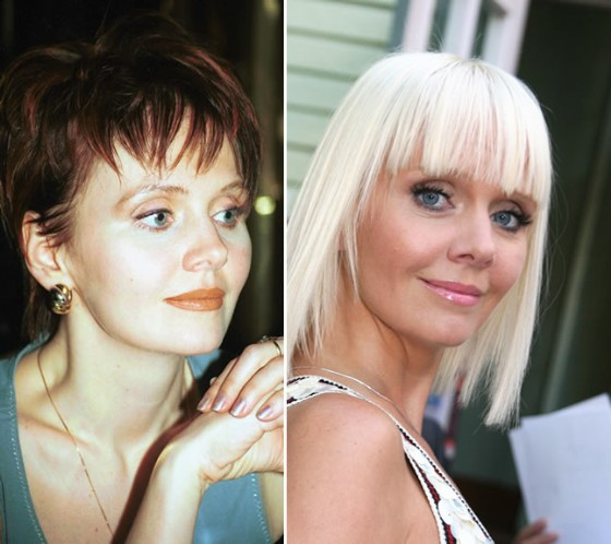 Валерия в 1999 году и 2009 году