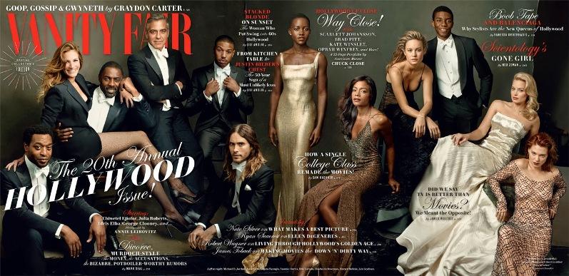 Выдающиеся актеры Голливуда для 20-го ежегодного выпуска журнала Vanity Fair, февраль 2014