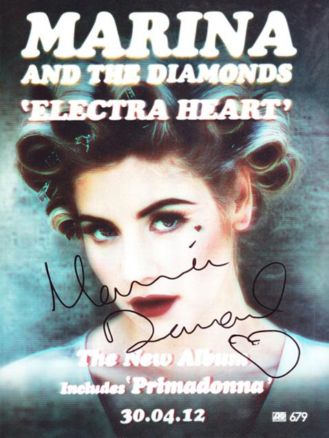 Автограф Marina and the Diamonds
