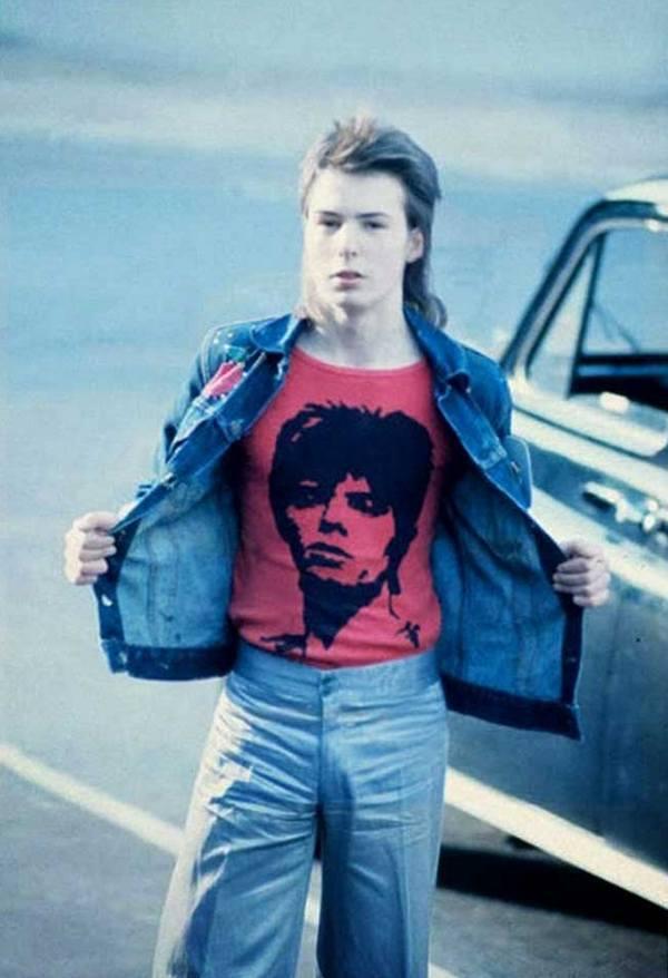16-летний Сид Вишес перед концертом Дэвида Боуи в Earls Court, 1973 год