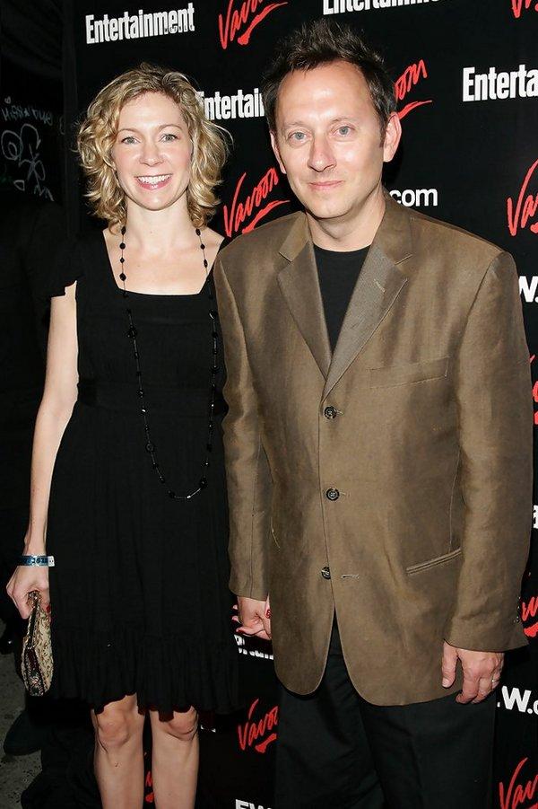 Майкл Эмерсон с женой