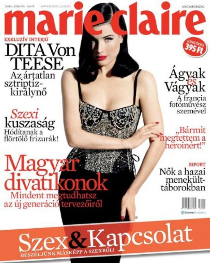Дита Фон Тиз на обложках журналов
