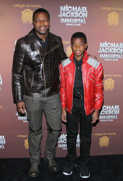 Крис Такер и его сын