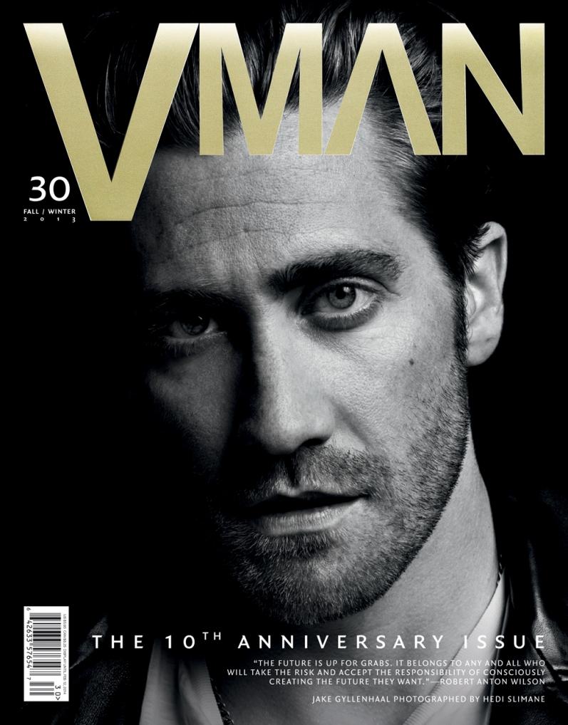 Джейк Джилленхол в фотосессии Эди Слимейна для журнала VMAN N30, осень 2013