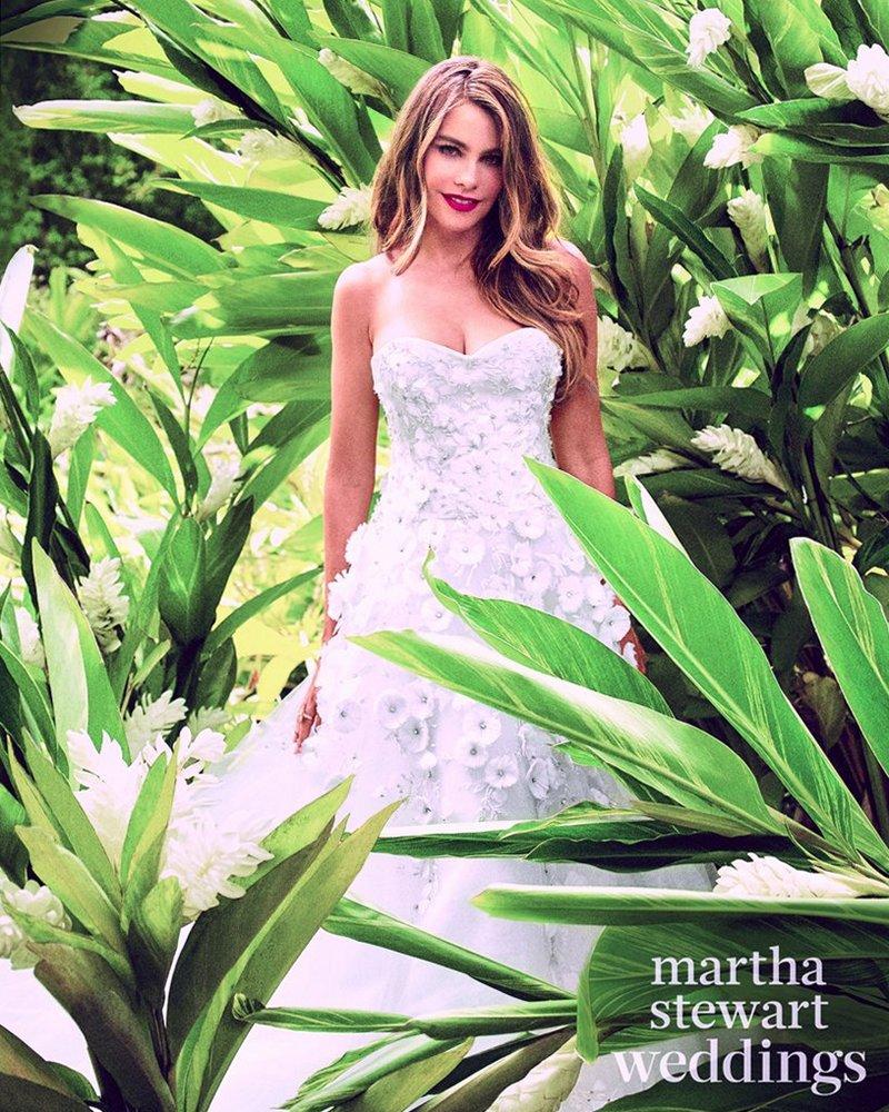 София Вергара для Martha Stewart Weddings, осень 2015