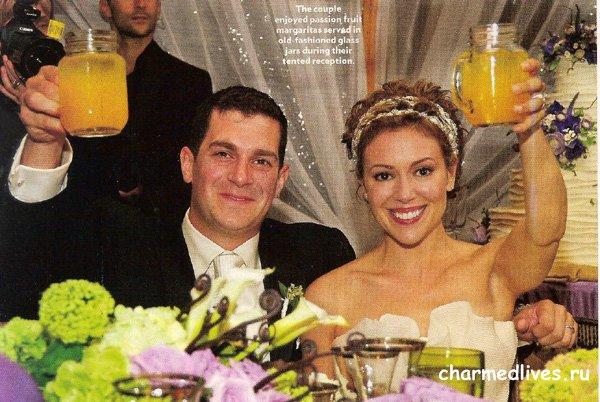 Свадебные фотографии Алиссы Милано