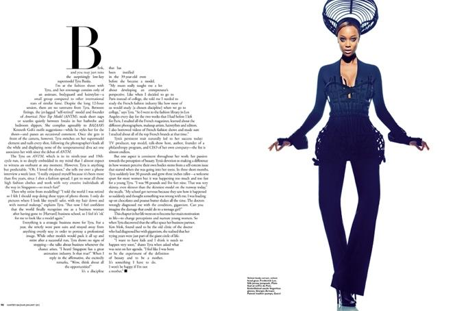 Тайра Бэнкс в Harper's Bazaar Singapore