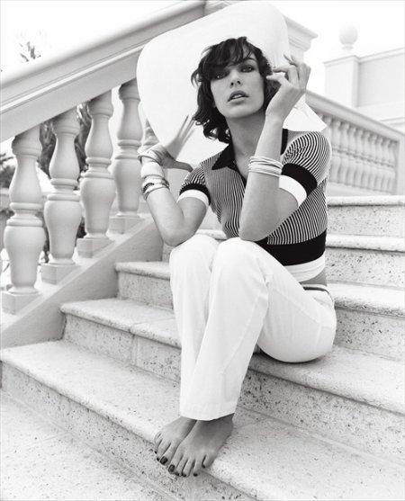 Милла Йовович  фотосессия Vogue
