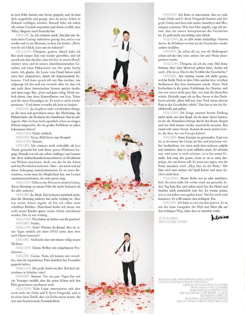 Тоби магуайр для июньского interview magazine
