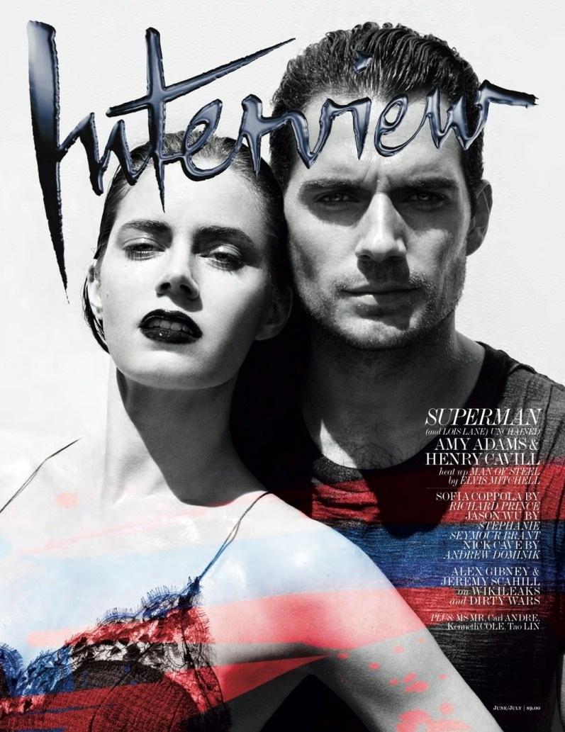 Эми Адамс и Генри Кавилл для летнего INTERVIEW Magazine