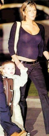 Виктория Бекхэм во время беременности