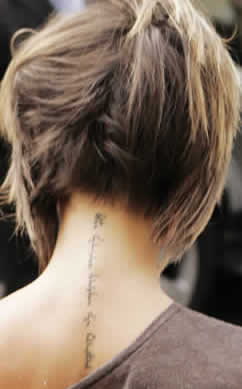 Татуировки Виктории Бекхэм