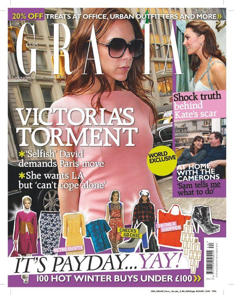 Виктория Бекхэм на обложках журналов