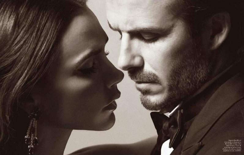 Виктория и Дэвид Бекхэм для Vogue Paris, январь 2014