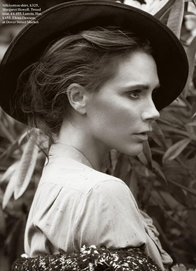 Виктория Бекхэм в фотосессии для журнала Vogue UK, август 2014