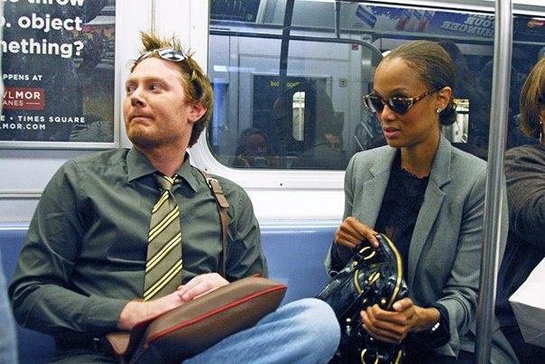 Знаменитости в метро
