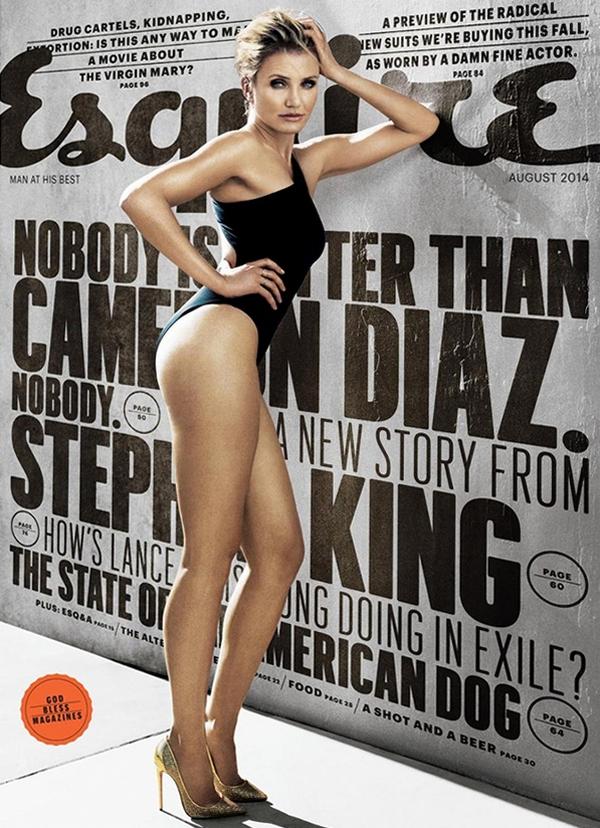 Камерон Диаз для Esquire, август 2014