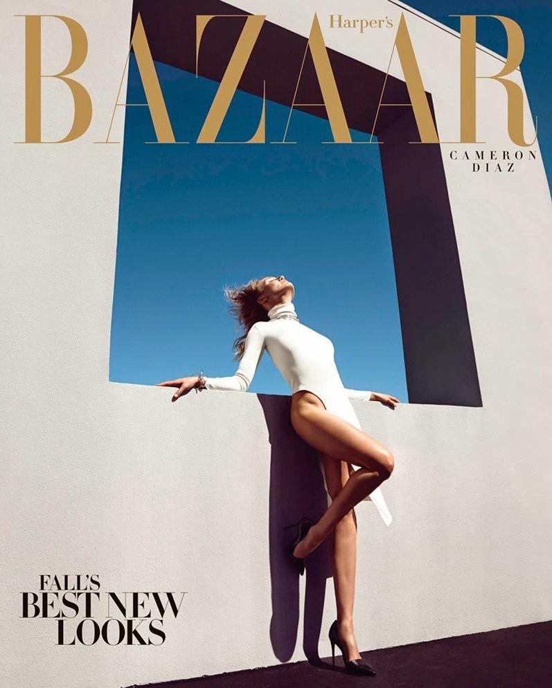 Камерон Диаз в фотосессии Камиллы Акранс для журнала Harper's Bazaar US, август 2014