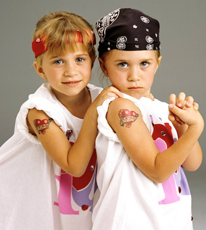 Мэри-Кейт и Эшли Олсен в детстве