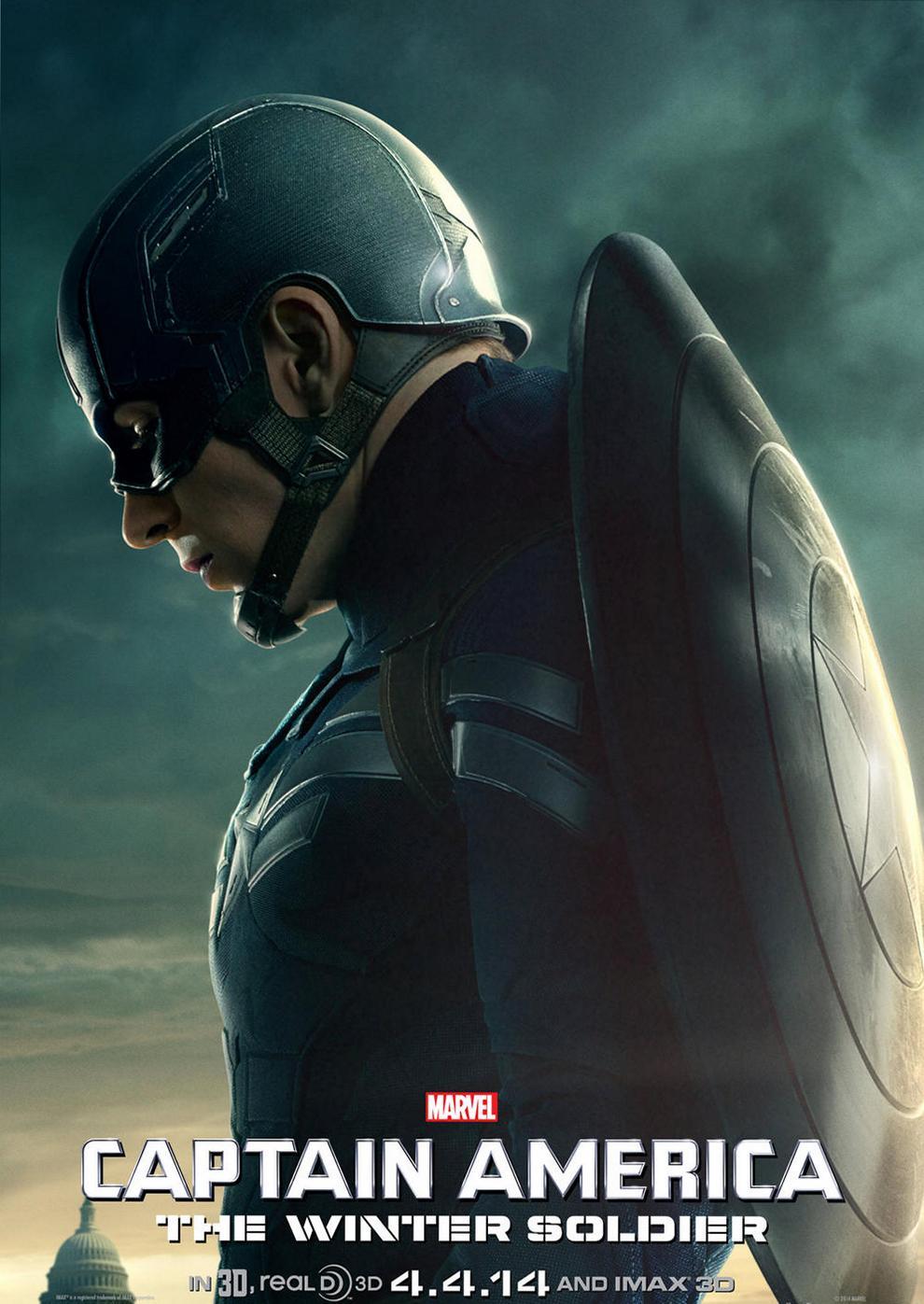 Характер-постеры фильма «Первый мститель: Другая война»